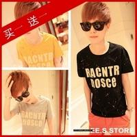 2013 men's clothing t-shirt short-sleeve T-shirt male t-shirt wood short-sleeve T-shirt