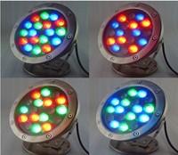 18W 24v / 85-265v led rgb underwater  Light 1800LM Waterproof fountain pool Lamp