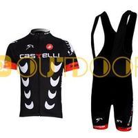 Free Shipping 2013 New Styles Castelli BlackTeam Cycling Jerseys Bike Jersey+bib short .Man's outdoor sport riding