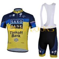 Free Shipping 2013 New Styles SAXO BANK Yello Team Cycling Jerseys Bike Jersey+bib short .Man's outdoor sport riding suit