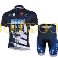 Free Shipping 2013 New Styles SAXO BANK Dark Blue Team Cycling Jerseys Bike Jersey+short/Bib short .Man's outdoor sport riding