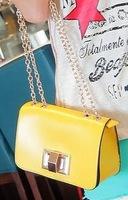 Spring and summer vintage small wind turn lock mini bags candy color chain women's messenger bag handbag