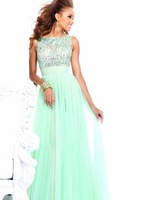 Best Selling Factory Direct Hand Made Heavily Beading Chiffon Beautiful Evening Gown Prom Dresses 2013 New Arrival