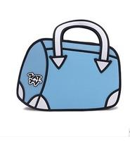 Style restoring ancient ways package current 2D/3D cartoon single shoulder bag, oblique handbag,drop shipping