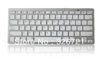 Bluetooth Wireless White Keyboard for PC Macbook Mac ipad 2 iphone 8371 50pcs  Free shipping