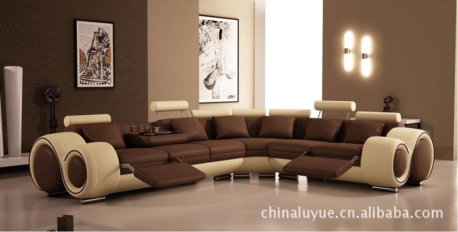 modern furniture designer leather sofa(China (Mainland))