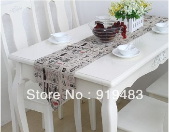 Free shipping 100% cotton+/linen fabric 30*180 table runner wholesale and retail