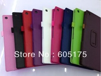 Free shipping 100 pcs/lot Folio PU Leather Case For Sony Xperia Tablet Z 10.1 inch Stand Cover