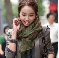 2013 New Lady silk scarf zebra pattern wholeslae voile scarf shawl  180*75CM BF-111
