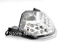 Motorcycle Chrome LED Tail Light Turn Signal Clear For Kawasaki 07-09 Z1000 07-09 Z750
