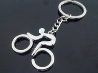 free shipping fashion  bicycle bike shaped  metal key chain keychain key ring keyring drop shipping