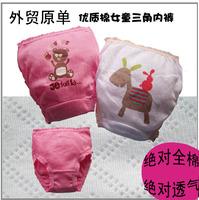 Child panties female child 100% cotton breathable cotton trigonometric 100% cotton baby bread pants female child panties
