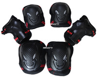 Adult skating shoes flanchard skateboard quality sports protective clothing 6 piece set kneepad elbow  for palm   protection