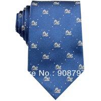 Blue Silver Floral 3.15'' 100%Silk Classic JS09 Jacquard Woven Man's Tie Necktie