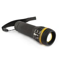 3-mode 3W LED Focus Zooming Torch Light Flashlight 3XAAA Black + Yellow