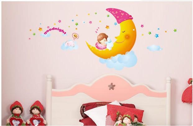 Grote verwijderbare muurstickers home decor voor kinderkamer ...