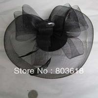 In Stock beautiful Black  Wedding Hats Birdcage  Veil Bridal   Free shipping Girl's  Bridal Hats