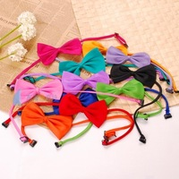 5pcs/lot Gentleman Teddy Vip Tie Cravat Pet Supplies Dog Bow Bib bandanas with Adjustable Necklace