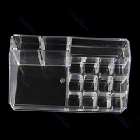 C18New 16 Grids Cosmetic Organizer Makeup Drawers Jewelry Display Box Acrylic Case