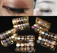 Brand New high quality Eyeshadow 8 colors eyeshadow palette with sponge eyeshadow brush smoking eye glitter / matte shimmer