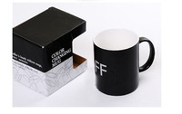 free shipping 3pcs/lot Glacier ON OFF Color Changing Mug Magical Chameleon Coffee Cup Temperature Sensing Novelty Gift