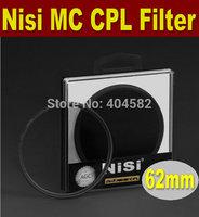 Free shipping 62mm NISI multi-coating ultrathin PRO MC CPL,Circular Polarizing CPL Camera Lens Filter