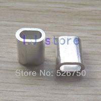 For 3.0mm Diameter Wire Rope Aluminum Crimping Sleeve Aluminum ferrules 200Pcs
