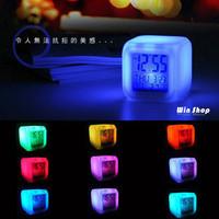 Gift birthday gift schoolgirl led clock colorful electronic alarm clock  (Free shipping)
