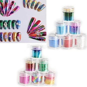 12 Rolls Mix Color Nail Art Transfer Foils Set Dazzle Colour Sticker  NI5L