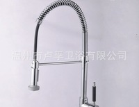Free shipping new Pull Out and down Withdraw  brushed pull out kitchen bathroom basin sink Mixer Tap Faucet brass material