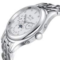 Classical JSDUN Date Day Calendar 6 Hands Analog Men's Sports Watch Full Steel Automatic Mechanical Self Wind Wrist Watch  8685