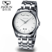 Luxury JSDUN White Stainless Steel Strap Analog Date Day Men's Automatical Mechanical Sports Wrist Men's Military Watch  8713