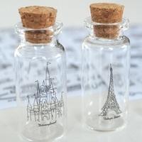 Free Shipping 6pcs/lot Eiffel Tower Tree Windmill Castle Landscape Dress Up Sticker Bottle Cellphone Notebook Dairy Decal 156