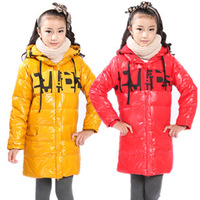 Free shipping Child down coat 150cm coat medium-long down child children down coat children's clothing  winter jacket lot down