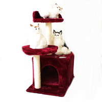 Square cat litter cat jumping cat climbing frame cat toy cat scratch column cat tree cat scratch board 19