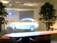 4m*1.524m Good quality of holographic rear projection film/foil/ for display, shopping mall,