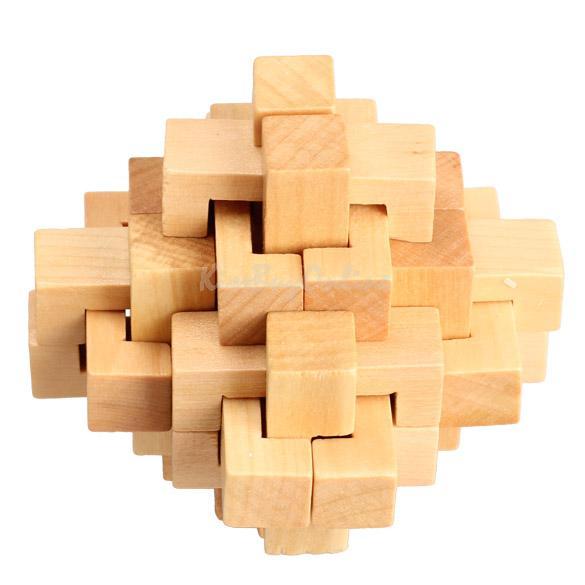 Chinese Traditional Wooden Kong Ming Lock Adult Children Intelligence Toy K5BO(China (Mainland))