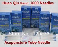 BEST HUANQIU Sterile Acupuncture Needle!1000 Needles-Huan Qiu Silver Handle Acupuncture Tube Needles(CE FDA) 0.25X13MM