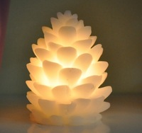 Wax LED candles , small electronic candle pinecone creative night light