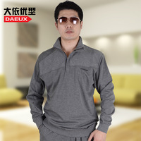 Spring men's plus size clothing outerwear plus size plus size t-shirt Large 100% cotton sports casual t-shirt loose top