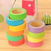 Fashion Stationery Wholesale Japanese Paper Rainbow color masking sticky tape adhesive tape sticker