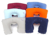Portable inflatable pillow sierran po flock printing neck pillow inflatable pillow 5