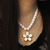 New arrival sweet daisied 18k gold necklace female accessories gift