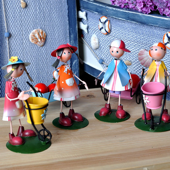 Fashion rustic fashion metal doll gadgetries gustless zakka home decoration gift