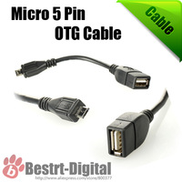 1pcs only, Micro USB OTG Host Cable, OTG USB Cable For Samsung Galaxy s3 s4 i9300 i9500, Sony, HTC One, LG, Table PC, Mp3 mp4