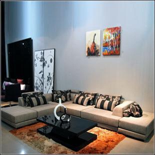 modern furniture designer Genuine Fadi Ou sofa stylish combination of modern minimalist living room sofa fabric sofa(China (Mainland))