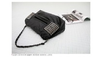 2013 NEW Fashion Punk Rivet +Chain Handbags Designers shoulder bag Classy large tote bag Casual Women PU Leather Big Bags