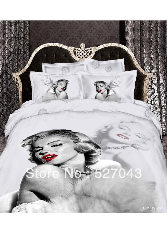 Achetez en gros couverture de lit 3d en ligne des grossistes couverture de - Housse de couette marilyn monroe ...