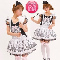 Christmas Gift New arrival vintage small lolita cos maid cosplay clothes hand brush