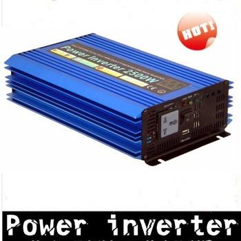 2500W  12V to 220V  50HZ  Power Inverter car inverter pure sine wave inverter free shipping